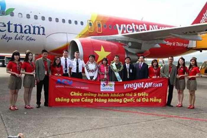 Vietjet đón hành khách thứ 5 triệu