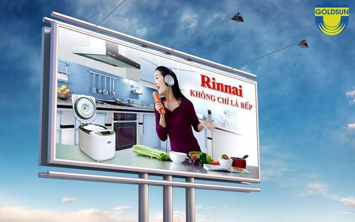 Biển quảng cáo ấn tượng của thương hiệu Rinnai