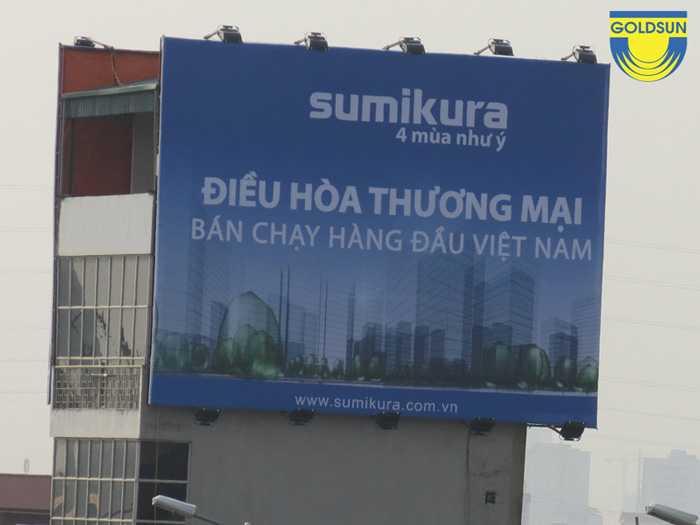 Biển quảng cáo của thương hiệu điều hòa Sumikura