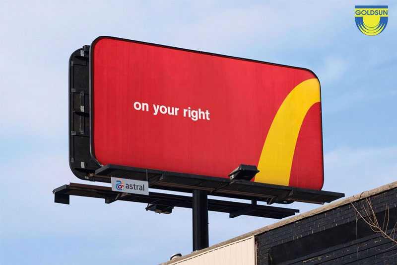 Biển quảng cáo độc đáo đến từ thương hiệu McDonald