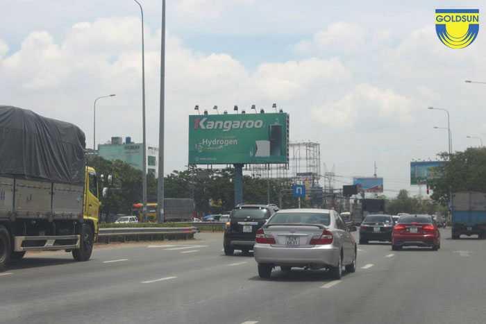 Biển quảng cáo thương hiệu Kangaroo trên đường An Lạc 1