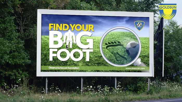 Biển quảng cáo của Hiệp hội bóng đá Oklahoma