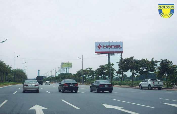 Biển quảng cáo hai mặt thương hiệu Hanel