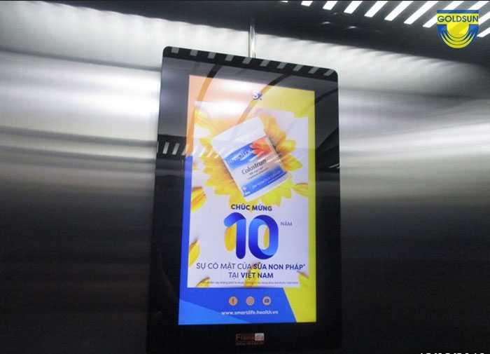 Màn hình quảng cáo frame trong thang máy