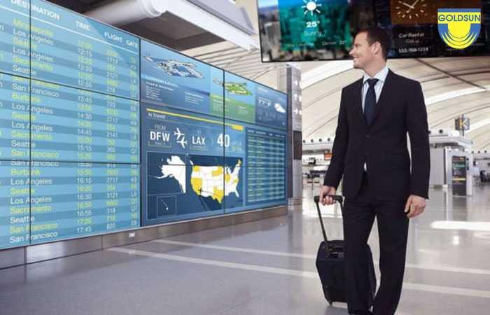 Màn hình quảng cáo sân bay dạng videowall