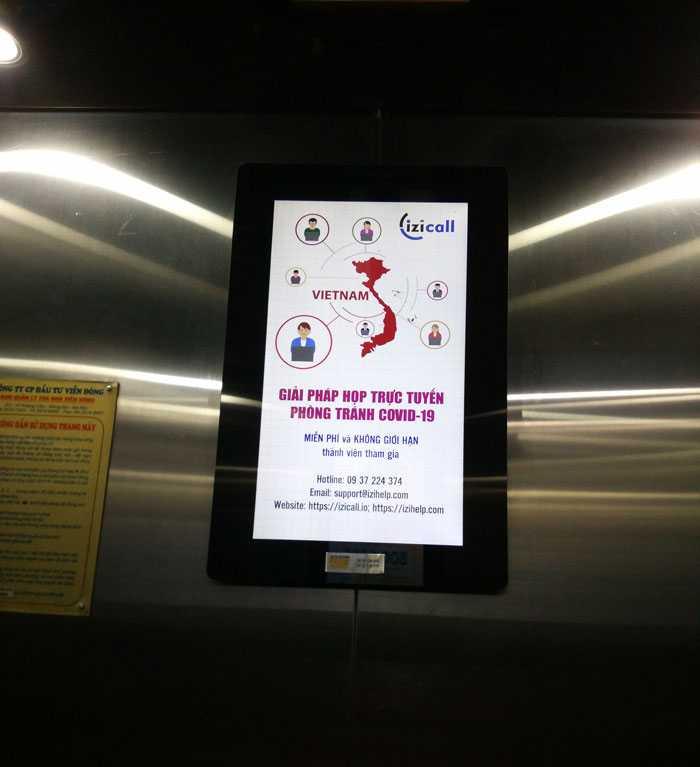 Màn hình quảng cáo trong thang máy