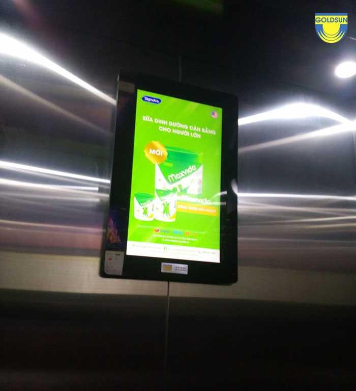 Quảng cáo frame trong thang máy tòa nhà Viễn Đông - Hà Nội