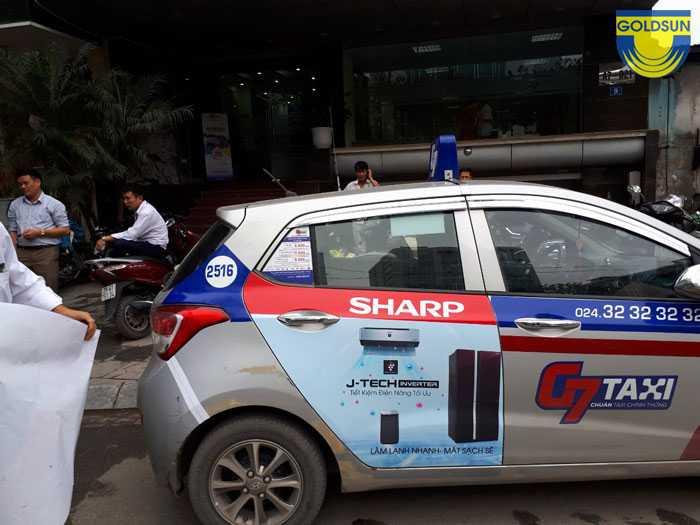 Quảng cáo điều hòa Sharp của taxi G7