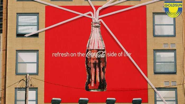 QUảng cáo hông tường của coca cola