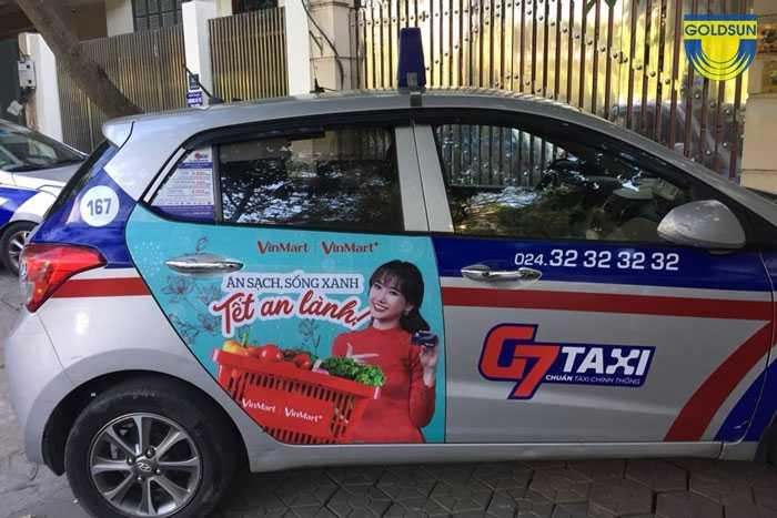 Quảng cáo trên xe taxi G7