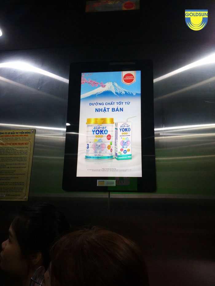 Màn hình frame quảng cáo trong thang máy