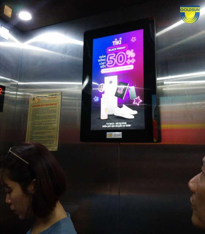 Quảng cáo trong thang máy thương hiệu Tiki
