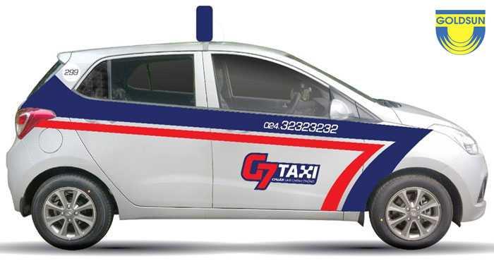 Quy mô hoạt động của taxi G7