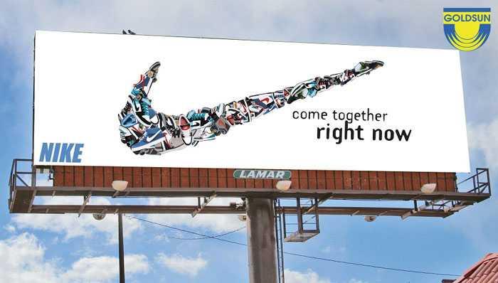 Biển quảng cáo một cột ấn tượng