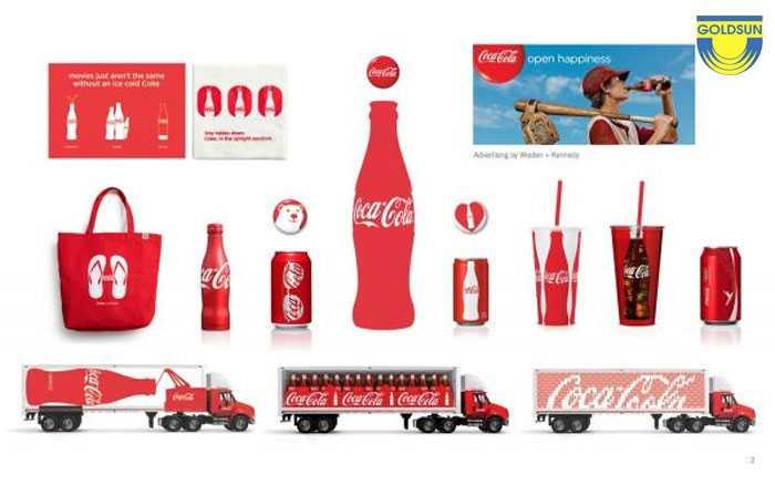 Bộ nhận diện thương hiệu của coca cola