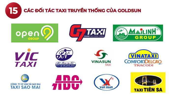 Đối tác quảng cáo xe taxi của Goldsun