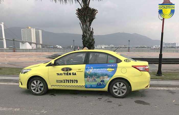 Quảng cáo trên xe tãi Tiên Sa