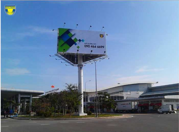 Billboard at the exit of the domestic terminal (OP 15) - Cam Ranh Airport