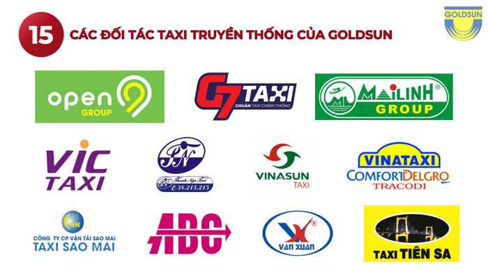 Các đối tác taxi truyền thông của Goldsun