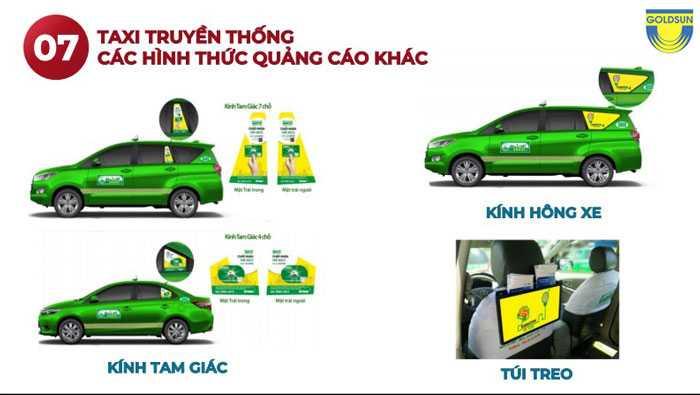 Hình thức quảng cáo khác trên xe taxi