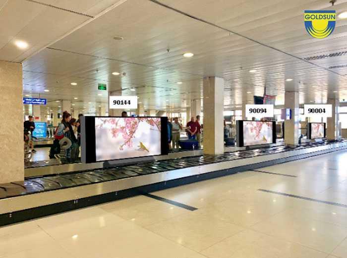 LCD screen at conveyor area