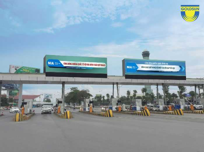 At the exit of toll station
