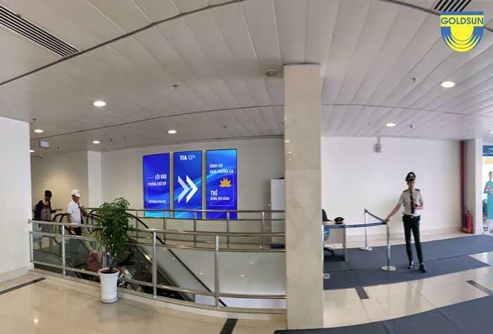 Quảng cáo biển kỹ thuật số tại sân bay