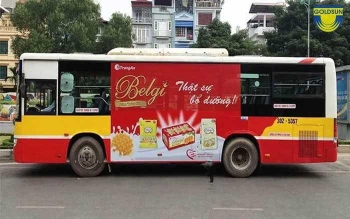 Quảng cáo trên xe bus được nhiều thương hiệu nổi tiếng lựa chọn