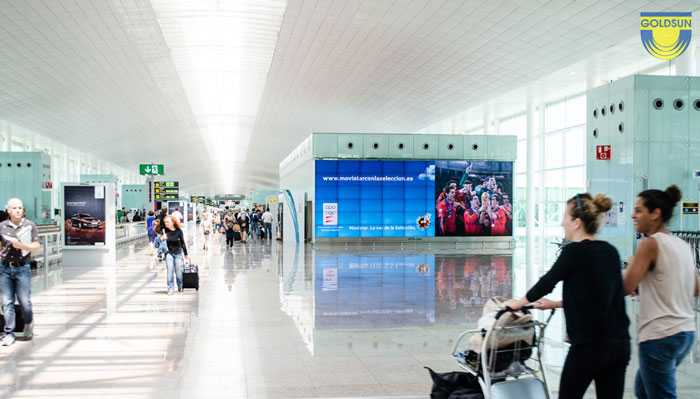 Advertising screen at the airport