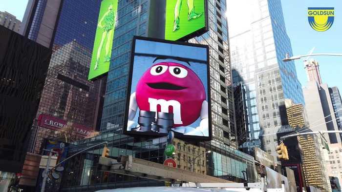 Quảng cáo độc đáo của M&Ms World tại New York