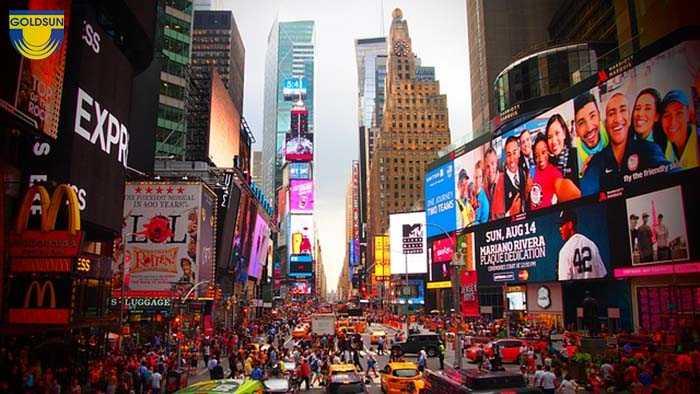 Quảng cáo tầm thấp được dùng nhiều ở khu vực trung tâm thành phố