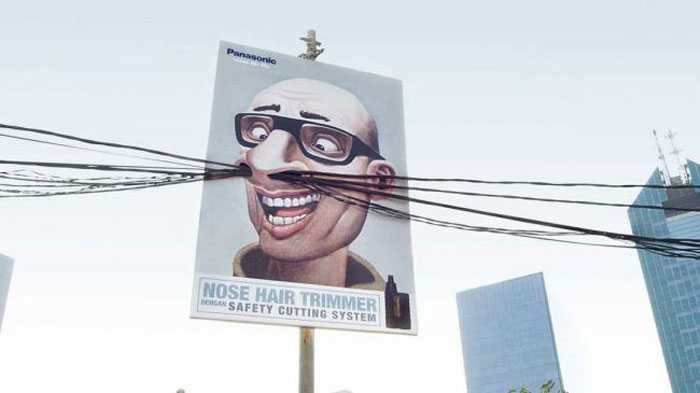 Saatchi & Saatchi Indonesia incorporated real-world elements into its design for Panasonic's nose hair trimmer