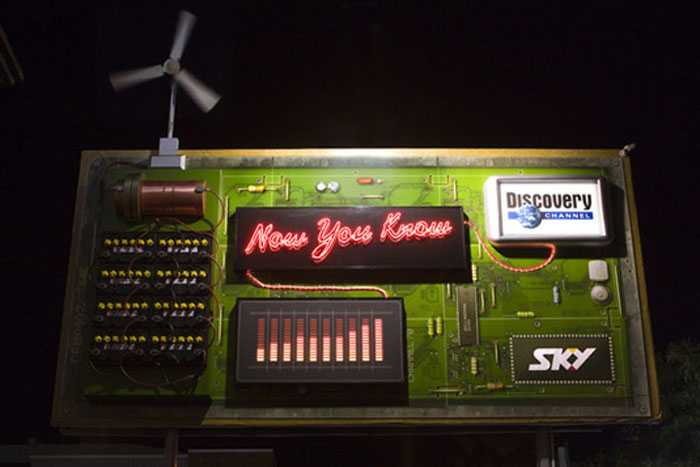 This original, wind-powered billboard design was created by DDB New Zealand