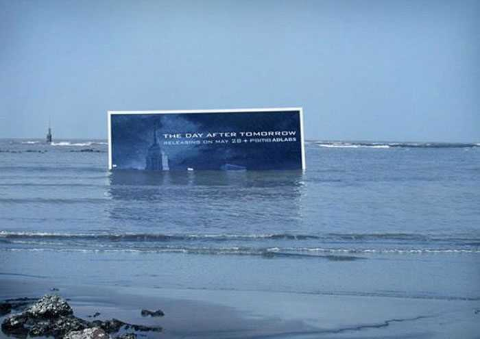The team at ad agency Contract came up with this innovative way of advertising the 2004 disaster movie The Day After Tomorrow