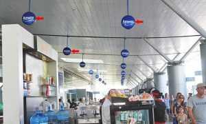 Quảng cáo Hộp đèn sân bay Tân Sơn Nhất (sảnh ga Quốc tế đi)