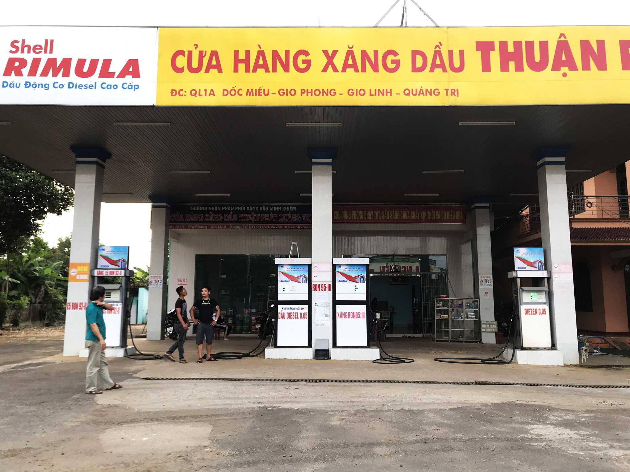 Quảng cáo CHXD Thuận Phát, QL1A, xã Gio Phong, huyện Gio Linh, Quảng Trị