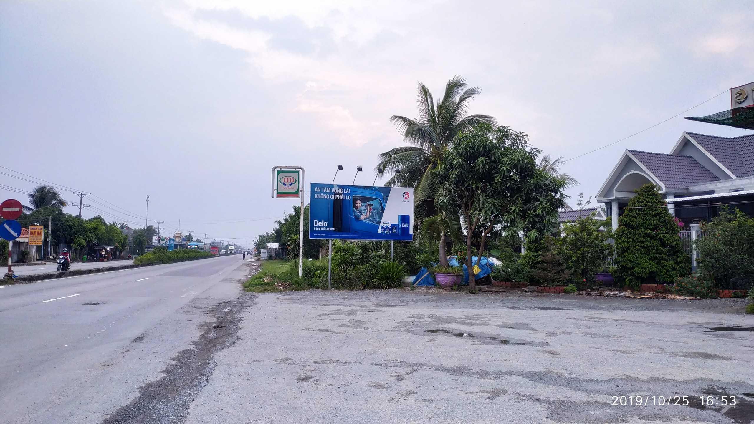Quảng cáo CHXD Hoàng Tiến 2, QL1A, xã Điềm Hy, huyện Châu Thành, Tiền Giang