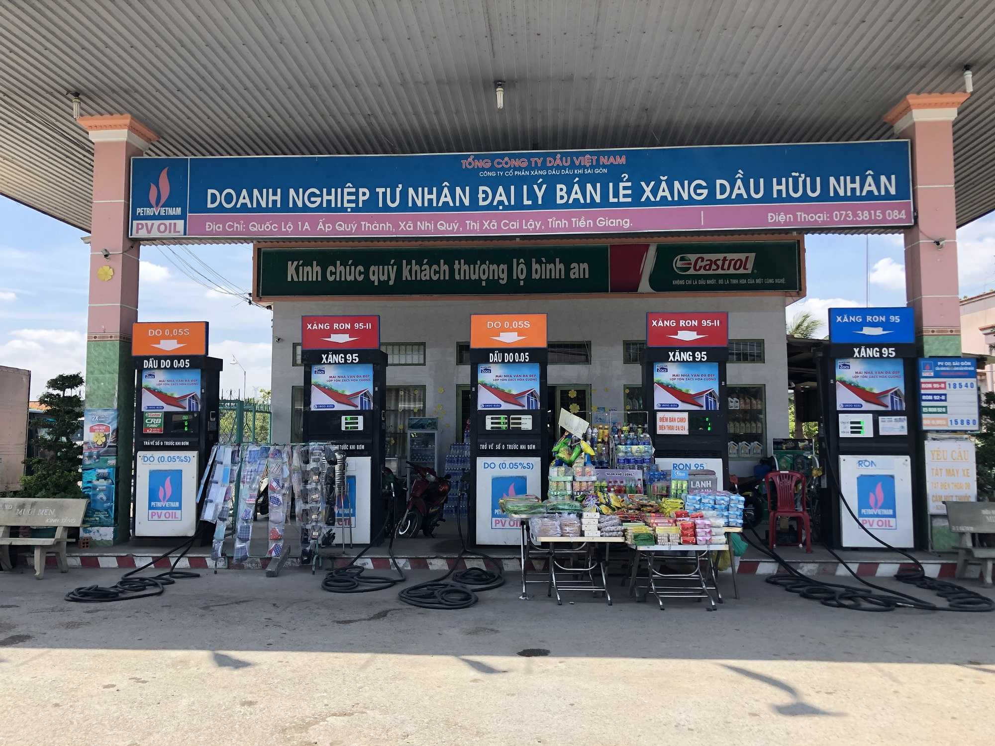 Quảng cáo CHXD Hữu Nhân Ql 1A, Quý Thành, Nhị Quý, Cai Lậy, Tiền Giang