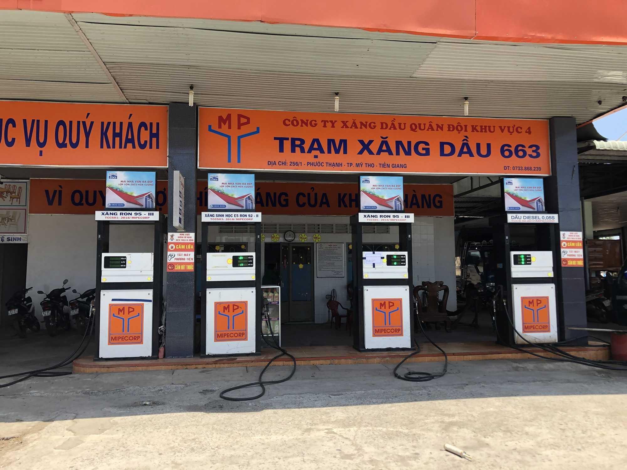 Quảng cáo CHXD 663 256/1, Phước Thạnh, Tp Mỹ Tho, Tiền Giang