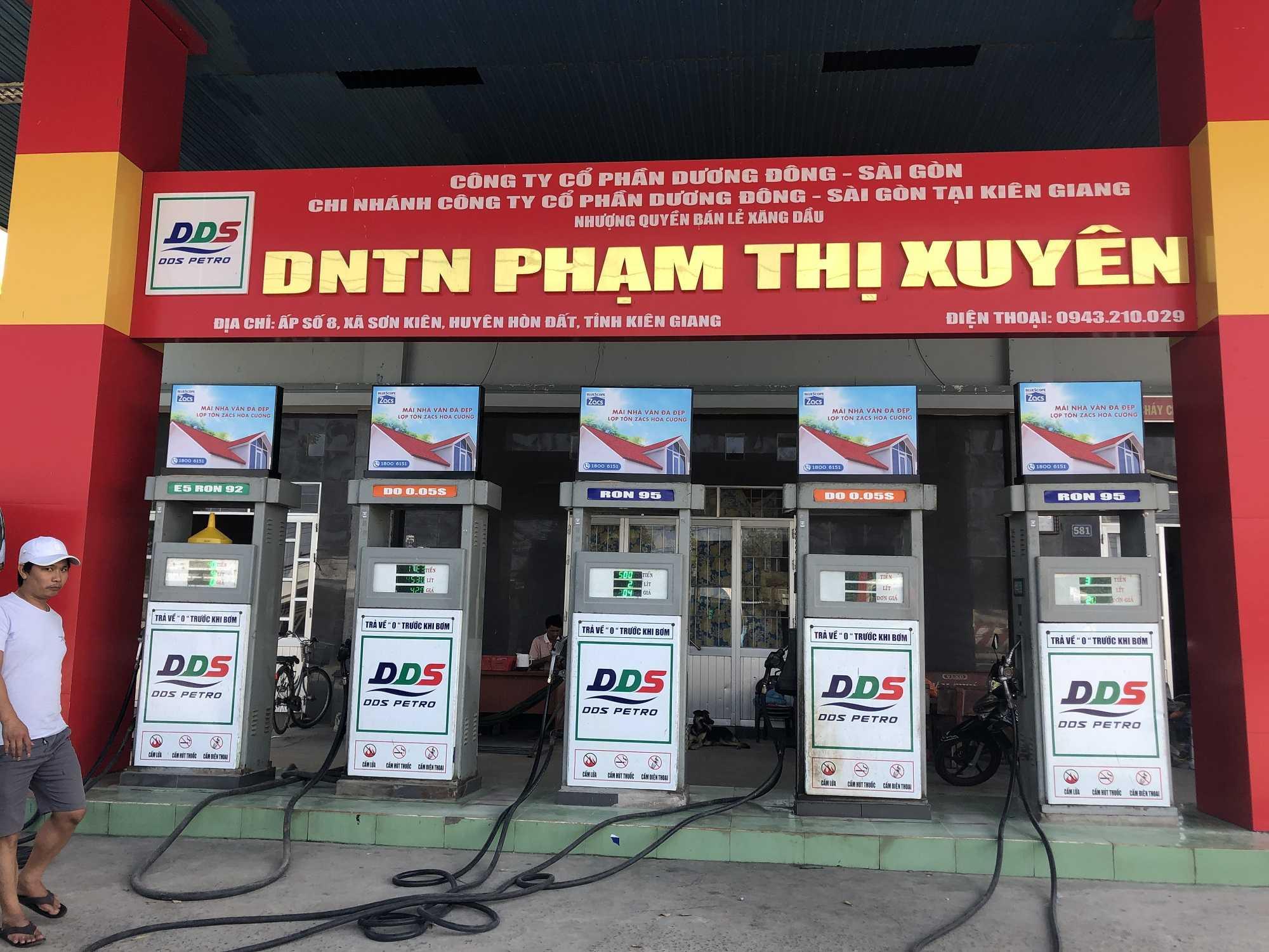 Quảng cáo CHXD Phạm Thị Xuyên Số 8, Sơn Kiên, Hòn Đất, Kiên Giang