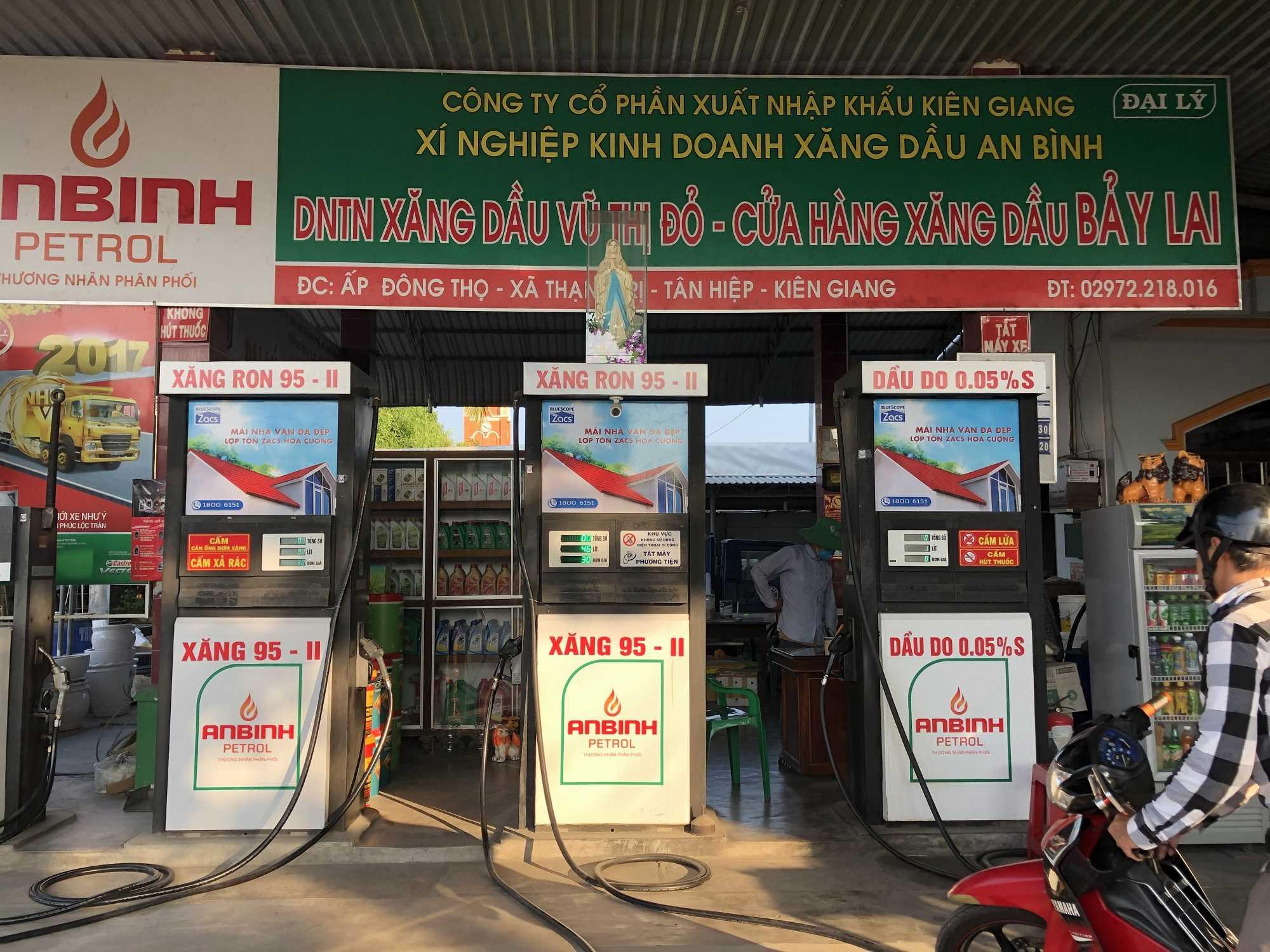 Quảng cáo CHXD Bảy Lai Ấp Đông Thọ, Xã Thạnh An, Tân Hiệp, Kiên Giang