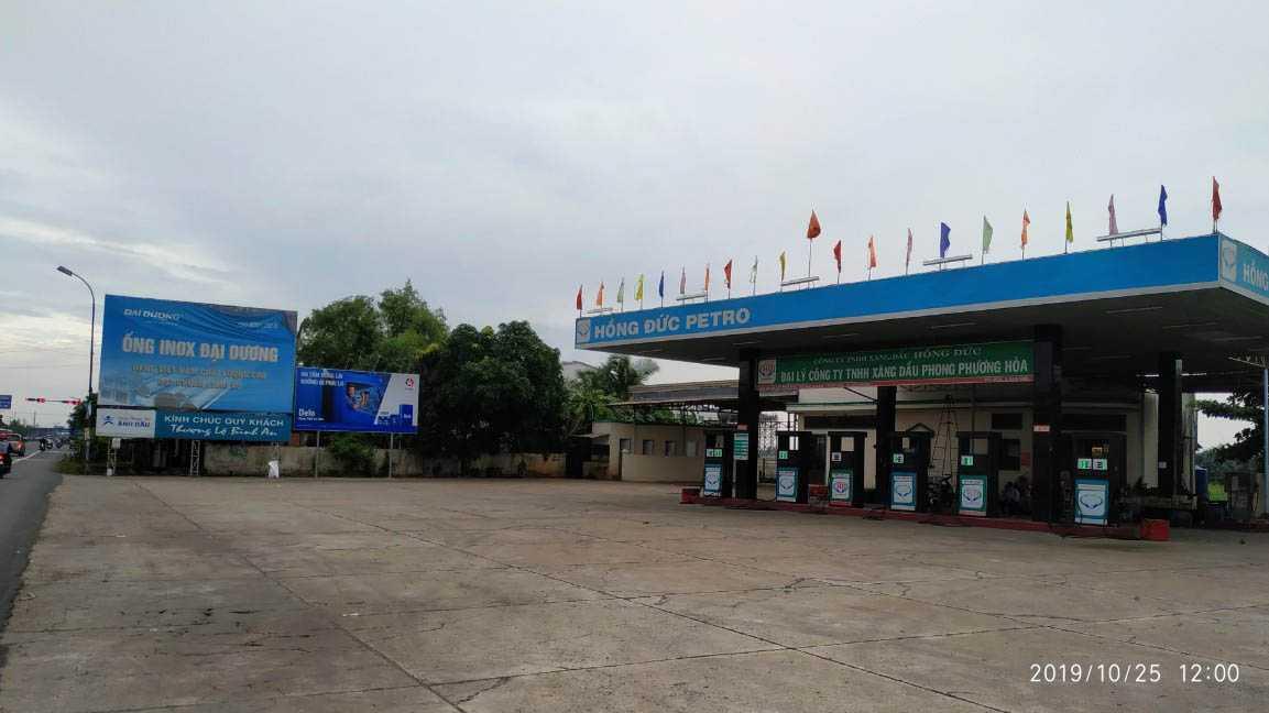 Quảng cáo CHXD Phong Dương Hòa, QL1A xã Phú Nhuận, TX Cai Lậy, Tiền Giang