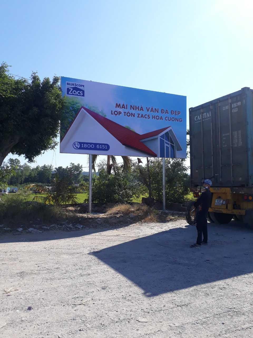 Quảng cáo billboard tại CHXD Sáu Ngãi - phường Nhơn Phú, Tp. Quy Nhơn, tỉnh Bình Định - 1 biển trụ nhỏ