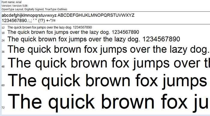 Luôn sử dụng font chữ cổ điển