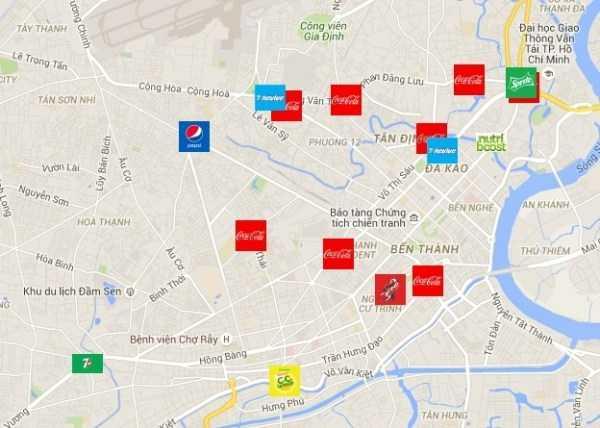 Coca-Cola vs Pepsi – Cuộc chiến Billboard ở Tp. Hồ Chí Minh