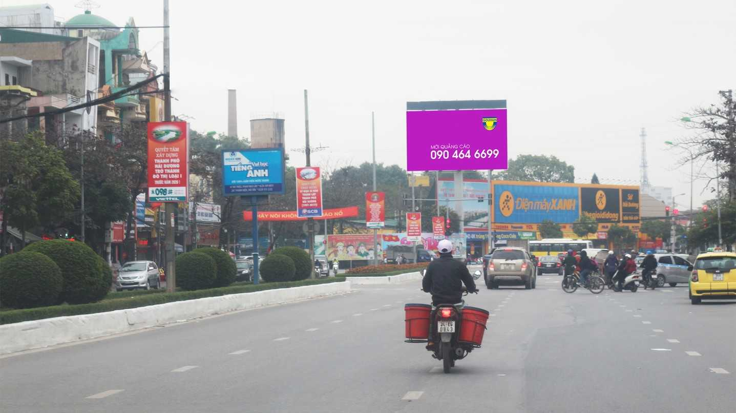 Quảng cáo Ngã tư nhà máy Sứ - Phạm Ngũ Lão - TP Hải Dương - Hải Dương