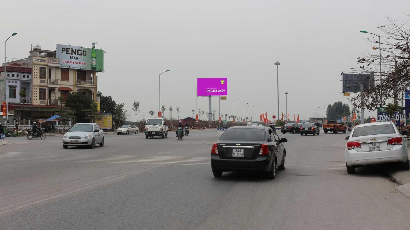 Quảng cáo VT1 - Gia Lộc - HD, nằm trên vỉa hè đường Nam Cường mới (bên phải hướng từ ngã 5 thị trấn Gia Lộc về HD, Hải Dương
