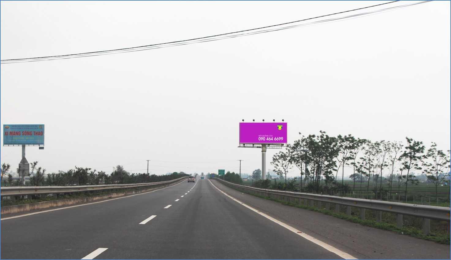 Quảng cáo HNLC 03 , Km16 +550 Cao tốc Hà Nội – Lào Cai