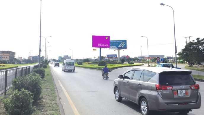 Quảng cáo VT1 ngã 4 Big C Nam Định, km107+370 QL10, bên tay phải hướng Thái Bình đi Nam Định
