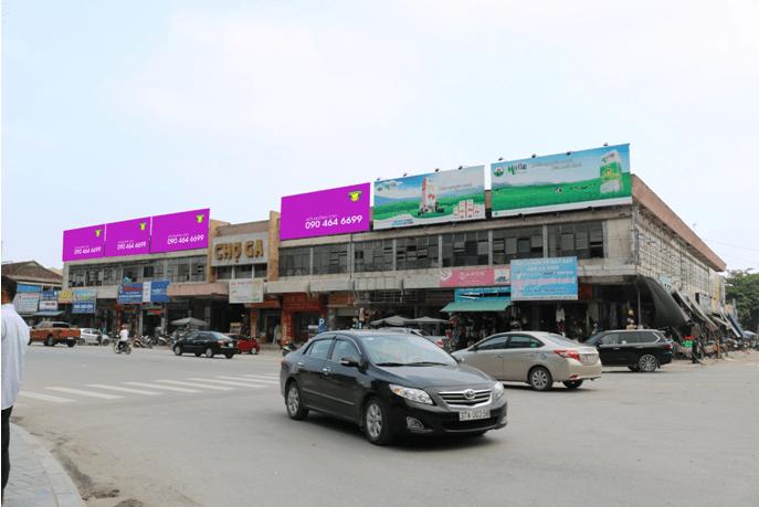 Quảng cáo Vị trí 4 ốp tường mặt tiền đình chợ Ga Vinh